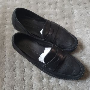 Cole Haan black leather casual loafers sz 9 used